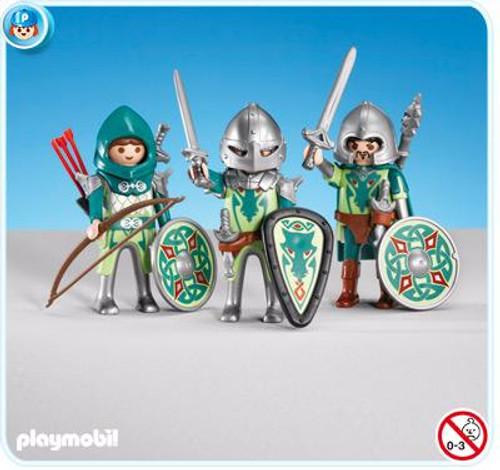 Playmobil Dragon Land 3 Green Dragon Knights Set #7973