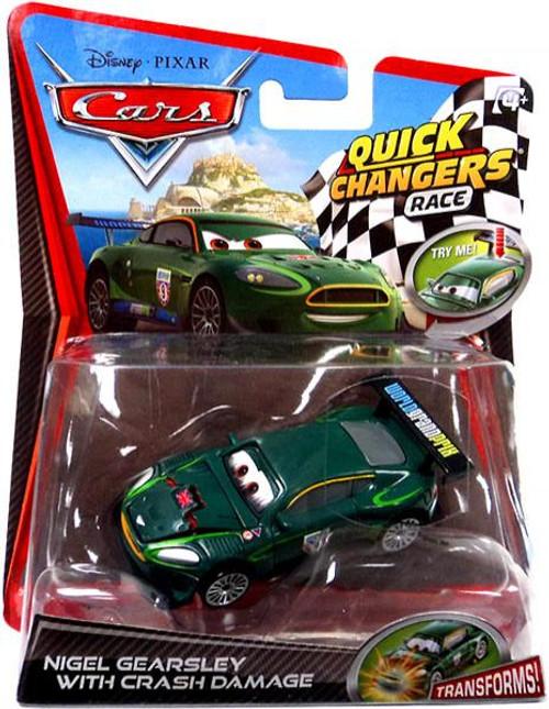 Disney Cars Cars 2 Quick Changers Race Nigel Gearsley with Crash Damage Diecast Car