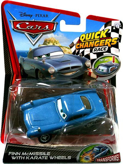 Disney Cars Cars 2 Quick Changers Race Finn McMissile with Karate Wheels Diecast Car