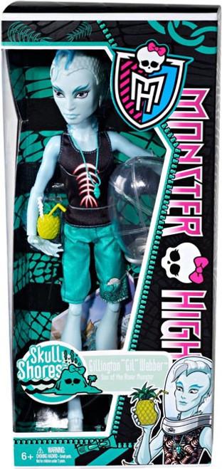 """Monster High Skull Shores Gillington """"Gil"""" Webber 10.5-Inch Doll"""