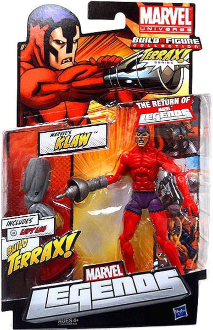 Marvel Legends 2012 Series 1 Terrax Klaw Action Figure