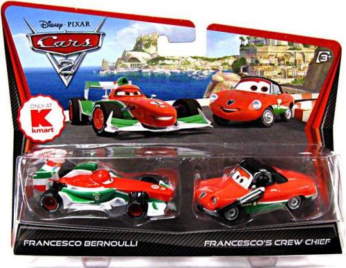Disney Cars Cars 2 2-Packs Francesco Bernoulli & Francesco's Crew Chief Exclusive Diecast Car 2-Pack