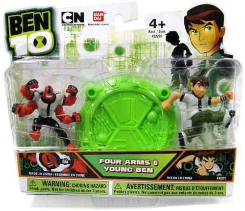 Ben 10 Four Arms & Young Ben 2 1/2-Inch Mini Figure 2-Pack