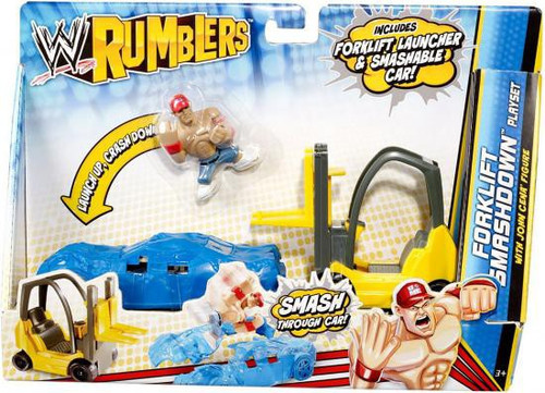 WWE Wrestling Rumblers Series 2 Forklift Smashdown Mini Figure Playset [With John Cena]
