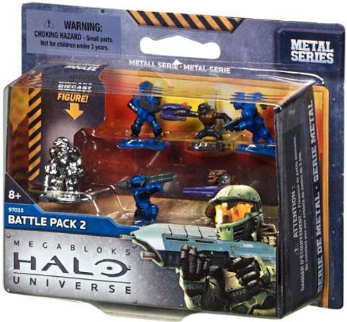 Mega Bloks Halo Metal Series Battle Pack 2 Set #97035