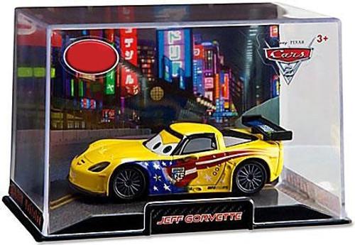 Disney Cars Cars 2 1:43 Collectors Case Jeff Gorvette Exclusive Diecast Car
