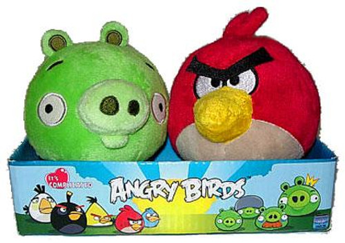 Angry Birds Red Angry Bird & Neutral Pig 4-Inch Plush 2-Pack
