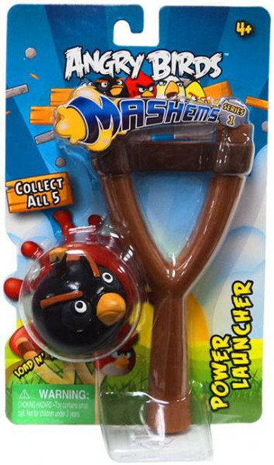 Angry Birds Mash'Ems Series 1 Black Bird Power Launcher