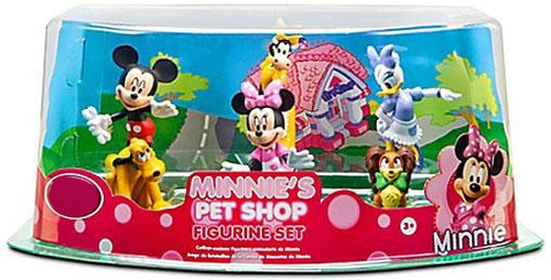 Disney Mickey Mouse Minnie's Pet Shop Figurine Set Exclusive 3-Inch