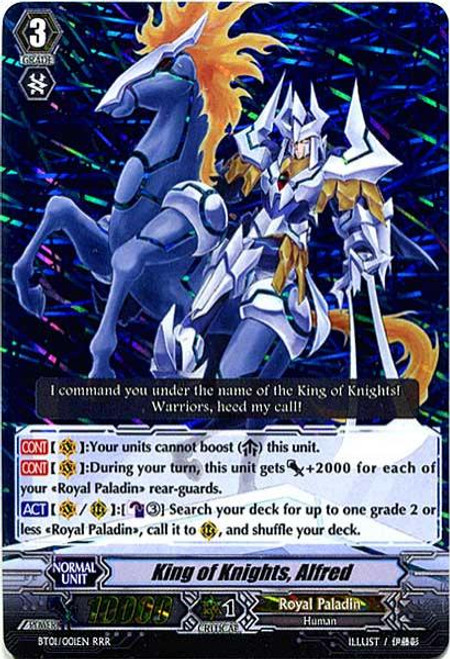 Cardfight Vanguard Descent of the King of Knights RRR King of Knights, Alfred BT01-001