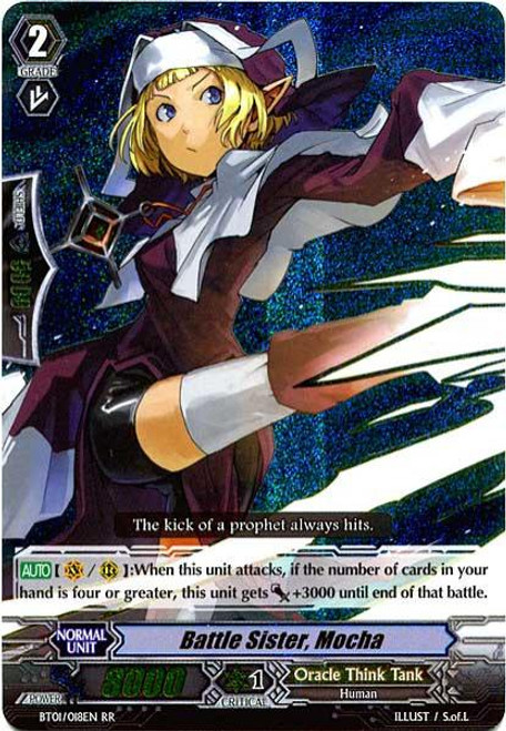 Cardfight Vanguard Descent of the King of Knights RR Rare Battle Sister Mocha BT01-018