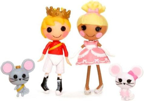 Lalaloopsy Prince Handsome & Cinder Slippers Mini Figure 2-Pack