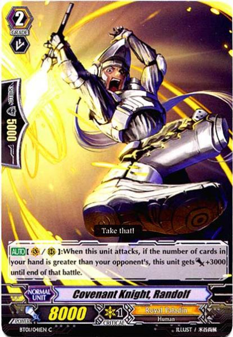 Cardfight Vanguard Descent of the King of Knights Common Covenant Knight Randolf BT01-041