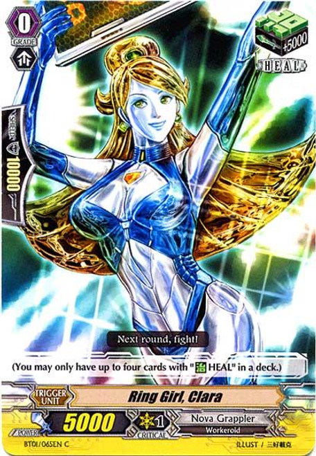 Cardfight Vanguard Descent of the King of Knights Common Ring Girl, Clara BT01-065