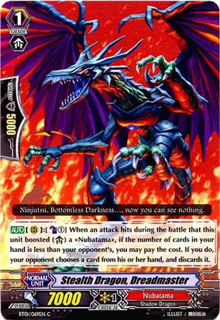 Cardfight Vanguard Descent of the King of Knights Common Stealth Dragon, Dreadmaster BT01-069