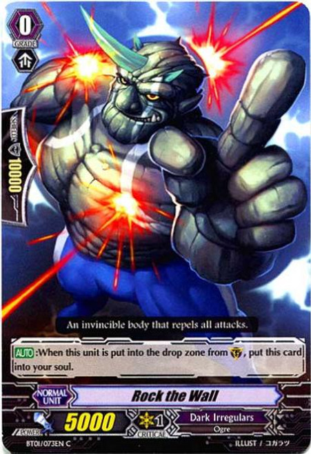 Cardfight Vanguard Descent of the King of Knights Common Rock The Wall BT01-073