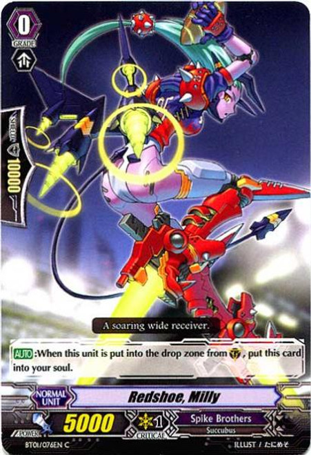 Cardfight Vanguard Descent of the King of Knights Common Red Shoe, Milly BT01-076