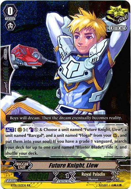 Cardfight Vanguard Descent of the King of Knights RR Rare Future Knight, Llew BT01-012