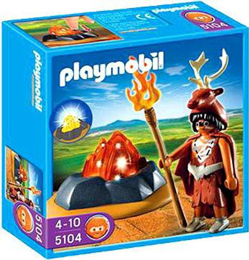 Playmobil Stone Age Fire Guardian with LED Fire Set #5104