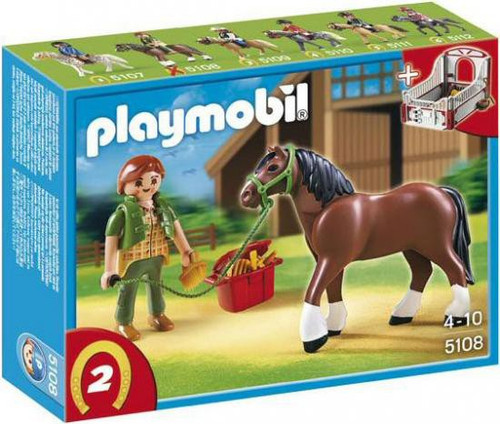Playmobil Horses Shire Horse with Groomer and Stable Set #5108