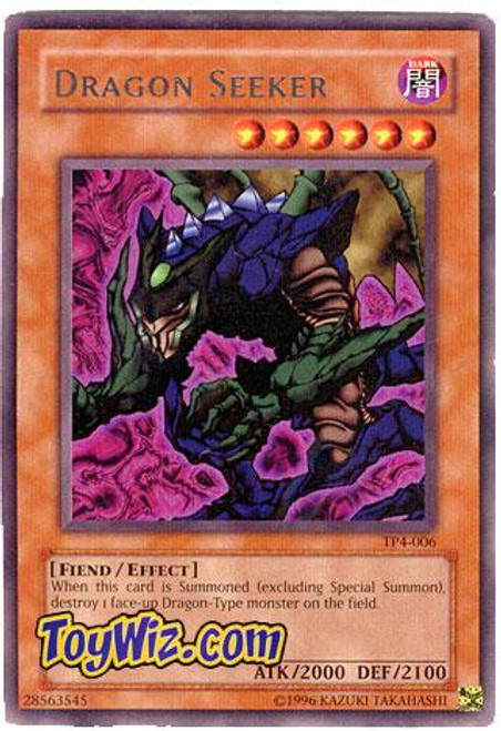 YuGiOh Tournament Pack 4 Rare Dragon Seeker TP4-006