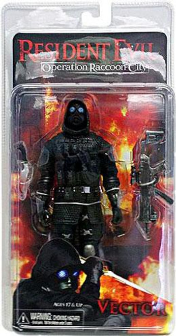 NECA Resident Evil Operation Racoon City Vector Action Figure