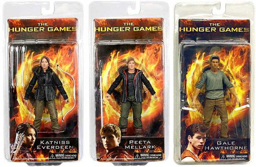NECA The Hunger Games Series 1 Set of 3 Action Figures