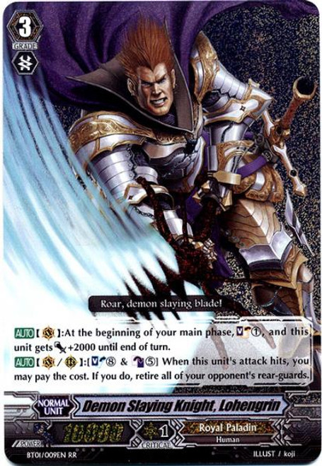 Cardfight Vanguard Descent of the King of Knights RR Rare Demon Slaying Knight, Lohengrin BT01-009