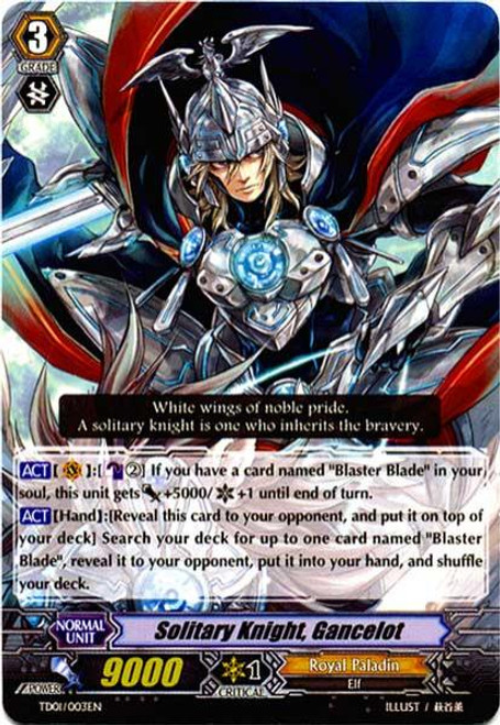 Cardfight Vanguard Blaster Blade Trial Deck Fixed Solitary Knight, Gancelot TD01/003
