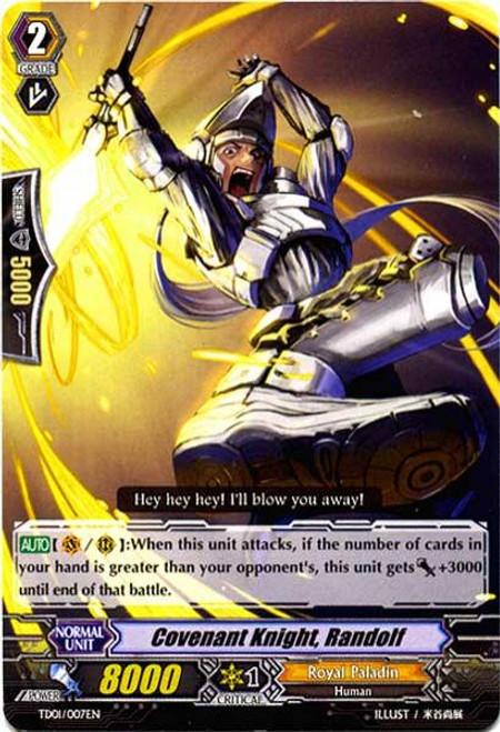 Cardfight Vanguard Blaster Blade Trial Deck Fixed Covenant Knight, Randolf TD01/007