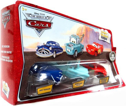 Disney Cars The World of Cars Story Tellers Doc Hudson, Brand New Mater & Sponsorless McQueen 3-Pack Diecast Car Set