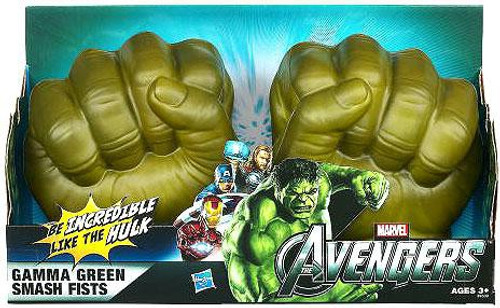 Marvel Avengers Hulk Gamma Green Smash Fists Roleplay Toy
