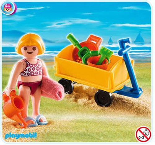 Playmobil Special Girl with Beach Wagon Set #4755