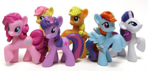 Friendship is Magic Set of the Mane My Little Pony Set of 6 2-Inch PVC Figures