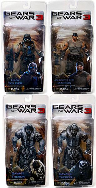 NECA Gears of War 3 Series 3 Fenix, COG Soldier & 2x Savage Therons Set of 4 Action Figures