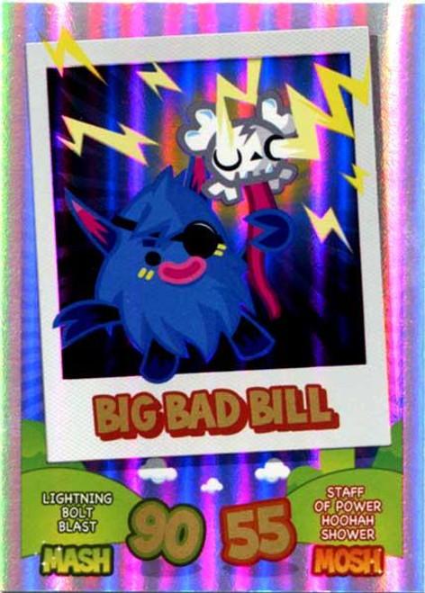 Moshi Monsters Mash Up! Rainbow Foil Card Big Bad Bill