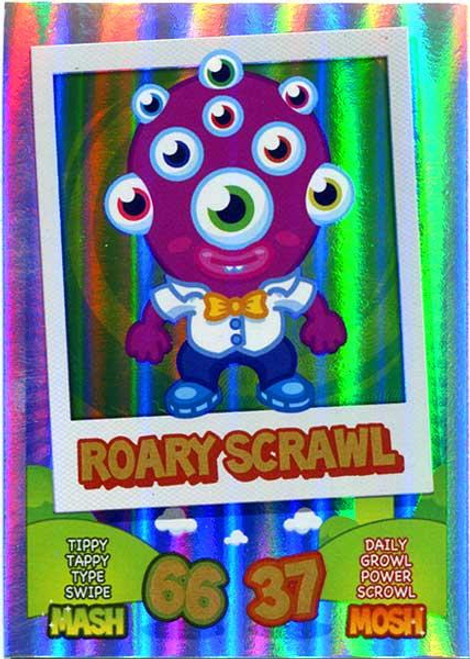 Moshi Monsters Mash Up! Rainbow Foil Card Roary Scrawl