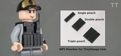 Tiny Tactical MP5 Magazine Double Pouch [Black]