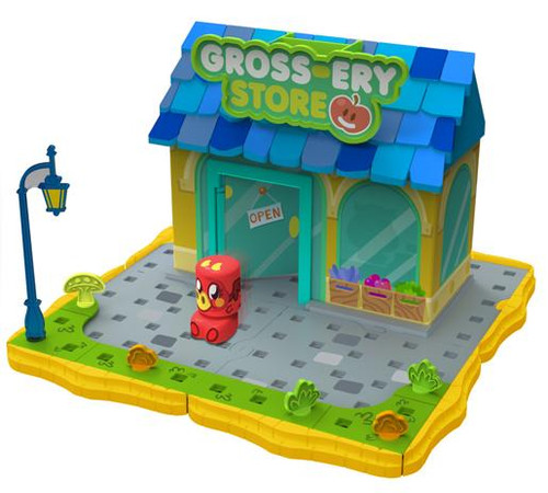 Moshi Monsters Bobble Bots Gross-ery Store with Burnie Playset [500 Rox]