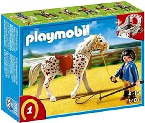 Playmobil Horses Knabstrupper Horse with Trainer and Stable Set #5107
