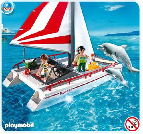 Playmobil Harbor Catamaran with Dolphins Set #5130