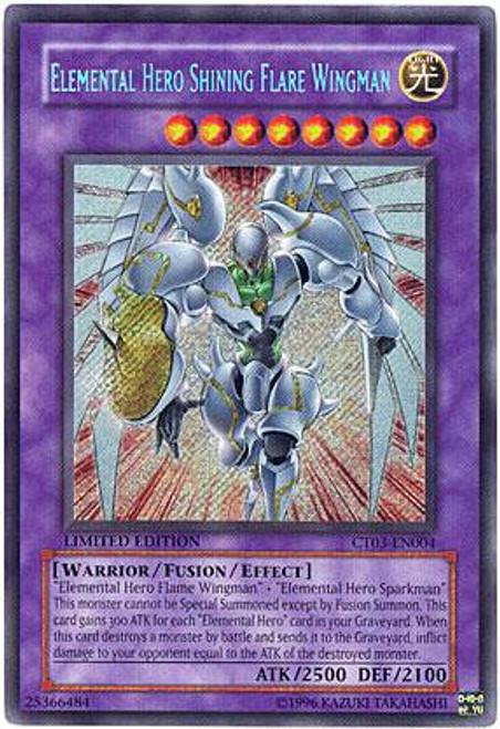 YuGiOh 2006 Collector Tin Secret Rare Elemental Hero Shining Flare Wingman CT03-EN004