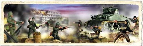 Forces of Valor s of Valor 1:72 D-Day Commemorative Series U.S. M4A1 Sherman with 8 Soldiers 1/7