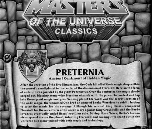 Masters of the Universe Classics Club Eternia Map of Preternia Exclusive