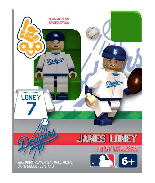 Los Angeles Dodgers MLB Generation One James Loney Minifigure