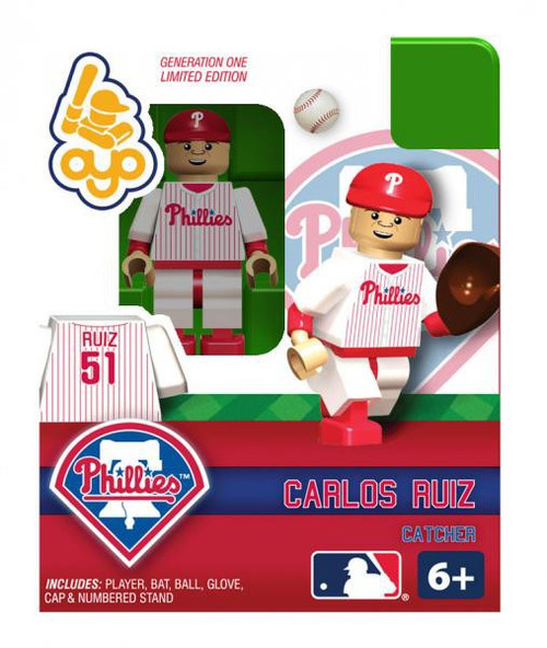 Philadelphia Phillies MLB Generation One Carlos Ruiz Minifigure