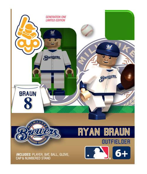 Milwaukee Brewers MLB Generation One Ryan Braun Minifigure