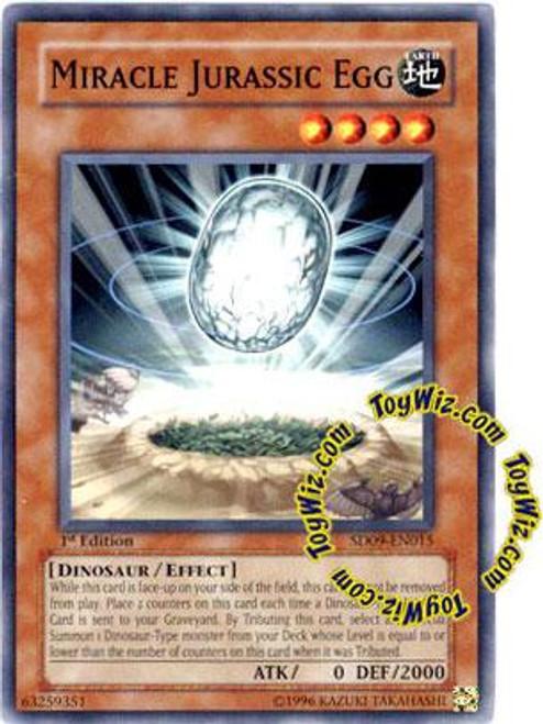YuGiOh Structure Deck: Dinosaur's Rage Common Miracle Jurassic Egg SD09-EN015