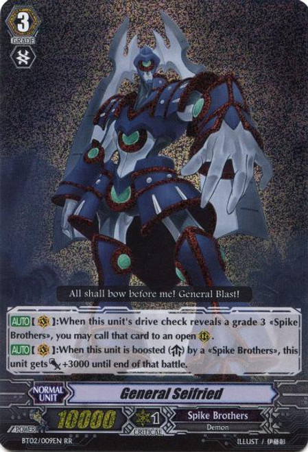 Cardfight Vanguard Onslaught of Dragon Souls RR Rare General Seifried BT02-009
