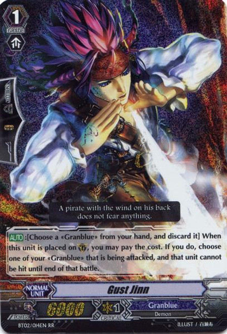 Cardfight Vanguard Onslaught of Dragon Souls RR Rare Gust Jinn BT02-014